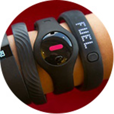 assorted wearable tech bands